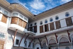 Harem section of famous Topkapi Palace in Istanbul, Turkey Royalty Free Stock Images