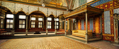 Harem in Topkapi Palace, Istanbul, Turkey. The Topkapi Palace is a palace in Istanbul, Turkey, which was the official and primary residence in the city of the Royalty Free Stock Photos