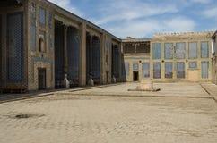 Haremowy podwórze s w Tosh Hovl pałac, Khiva, Uzbekistan fotografia royalty free