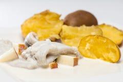 Harengs avec des pommes de terre Images stock