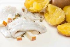 Harengs avec des pommes de terre Photos libres de droits