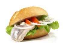 Harengs de Matjes - petit pain de poissons image libre de droits