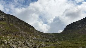 Hares gap mournes. Hares gap entrance to the mourne mountains Royalty Free Stock Image