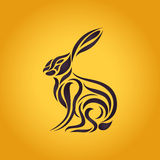 Hares logo vector. Icon illustration Stock Images