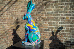Hares on the March 2016,Dublin Ireland. Royalty Free Stock Photography