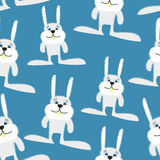 Hares and rabbits seamless pattern. Vector background of animals Royalty Free Stock Photos