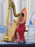 harfa występ Fotografia Royalty Free