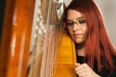 Harfe prespective Stockfoto