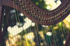 Harfeninstrument, Nicht-Pedal-Harfe Stockfotografie