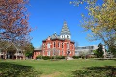 Hargis Hall på det kastanjebruna universitetet Arkivfoton