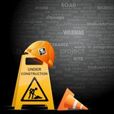 Harhat and Under Construction Board Stock Photography