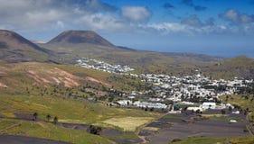haria Lanzarote wioska Zdjęcie Royalty Free
