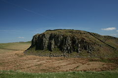 Harians wall. Roman wall in northumberland Stock Photo