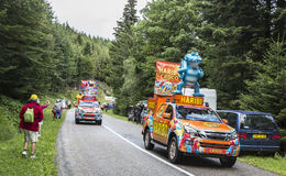 Haribo有蓬卡车- Le环法自行车赛2014年 免版税库存照片