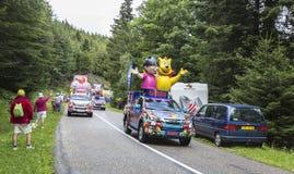 Haribo有蓬卡车- Le环法自行车赛2014年 库存图片