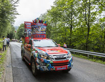 Haribo车-环法自行车赛2014年 免版税图库摄影