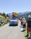 Haribo Car in Pyrenees Mountains Stock Photos