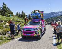 Haribo Car in Pyrenees Mountains Royalty Free Stock Image