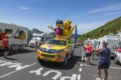 Haribo-Fahrzeug - Tour de France 2016 Stockfoto
