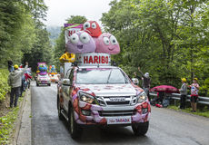 Haribovoertuigen - Ronde van Frankrijk 2014 Royalty-vrije Stock Afbeelding