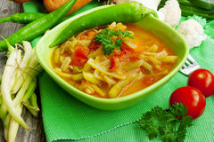 Haricot beans stew with vegetables Stock Images