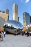 Haricot de Chicago en stationnement de millénium Photographie stock