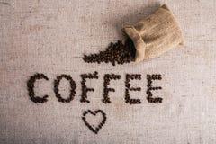 Haricot de Coffe rôti, texture gentille Photos stock
