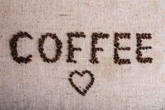 Haricot de Coffe rôti, texture gentille Photo stock