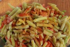 Haricot et carottes Image stock