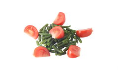 Haricot et tomate Photographie stock