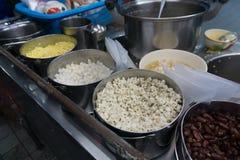Haricot rouge et dessert thaïlandais de millet Images stock