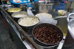 Haricot rouge et dessert thaïlandais de millet Photos stock