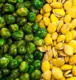 Haricot vert et haricot jaune Photos stock