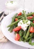 Haricot vert et tomate photographie stock libre de droits