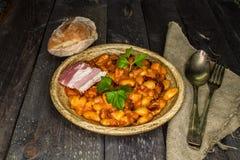 Haricots cuits au four Photo libre de droits