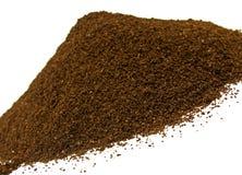 Haricots de cafè moulu Images stock
