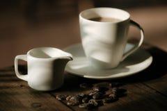 Haricots de café et de chocolat Photographie stock libre de droits