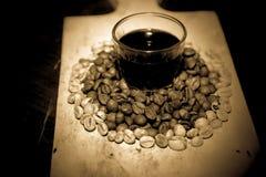 Haricots de Coffe Images libres de droits