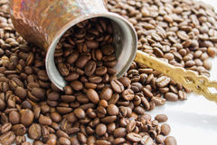 Haricots de Coffe Photographie stock libre de droits