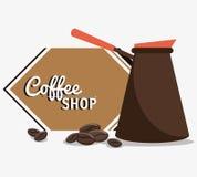 haricots de filtre de pot de café Photos libres de droits