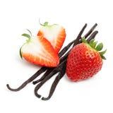 Haricots de fraise et de vanille Images libres de droits