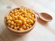 Haricots de pois chiche Ingrédient pour les repas végétariens sains photographie stock