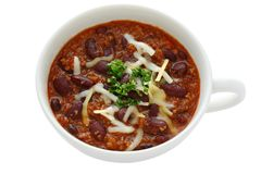 Haricots de /poivron, chili con carne Photo libre de droits