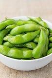 Haricots de soja d'Edamame Photo stock