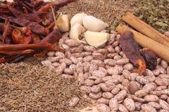 Haricots et épices Image stock
