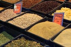 Haricots et céréales Photos stock