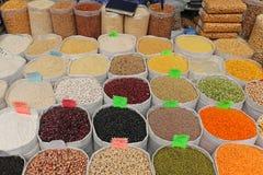 Haricots et grains Photos libres de droits