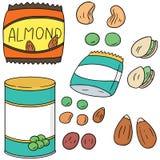Haricots et produits de haricot Image stock