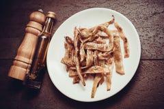 Haricots frits par végétarien Photos stock