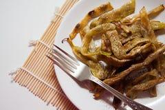 Haricots frits par végétarien Photo stock